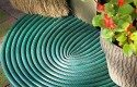 Recycled Garden Idea: Make a doormat with old garden hoses!
