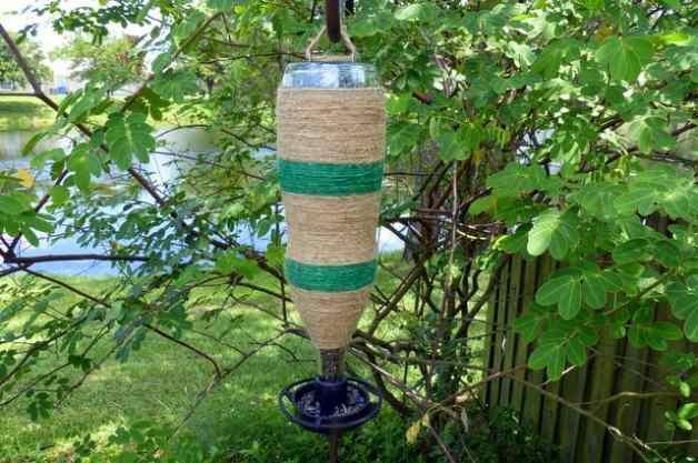 Twine Wrapped DIY Bottle Feeder