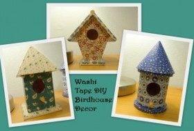 Washi Tape DIY Birdhouse Decor