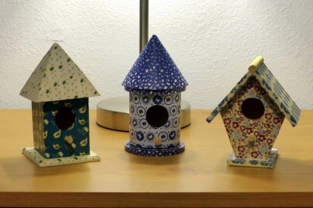 Washi Tape DIY Birdhouse Decor