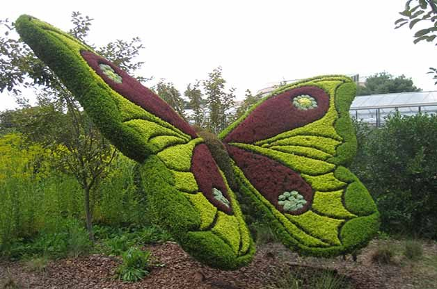 I love the detail in the wings of this butterfly sculpture.