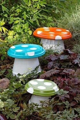 DIY Garden Mushroom