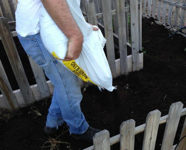 adding manure as soil amendment