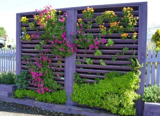 painted vertical garden
