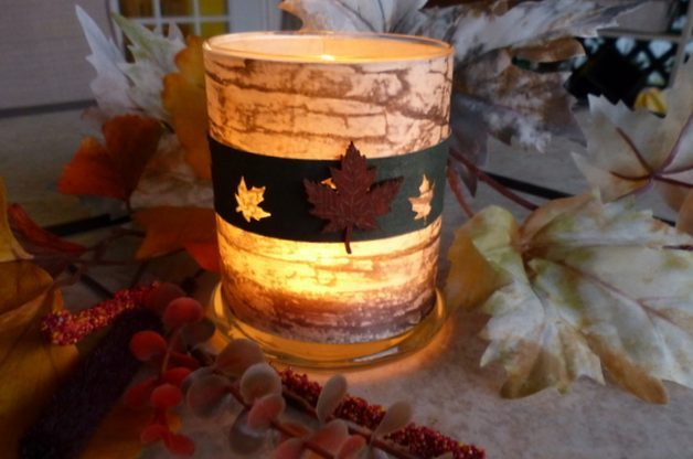Birch Bark DIY Candle Holder