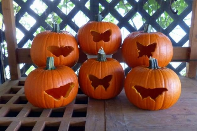 Cookie Cutter Butterfly Pumpkins