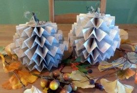 Folded Paper Pumpkin Craft