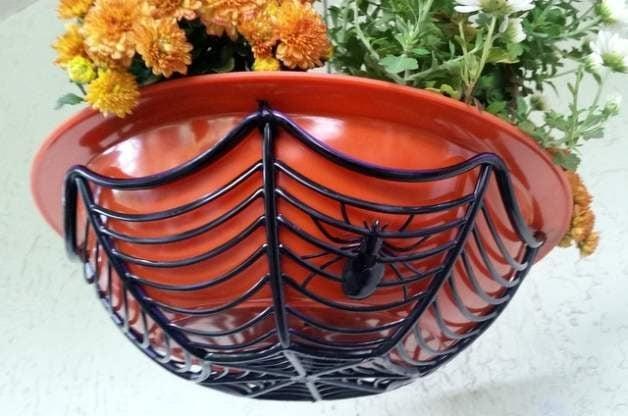 Spiderweb Halloween Planter