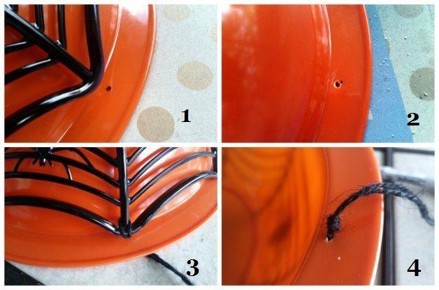 Spiderweb Halloween Planter 4