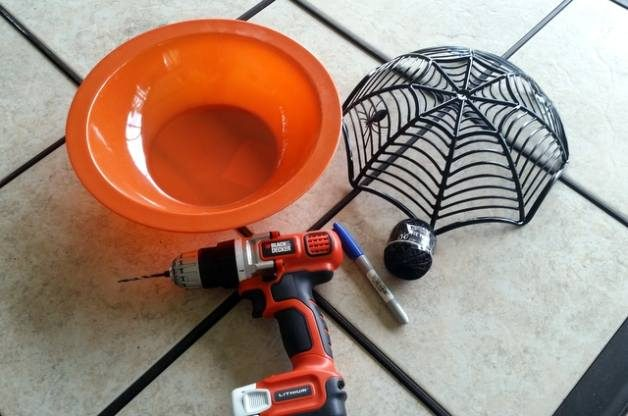 Spiderweb Halloween Planter