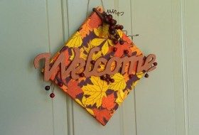 Welcome Sign Fall Craft