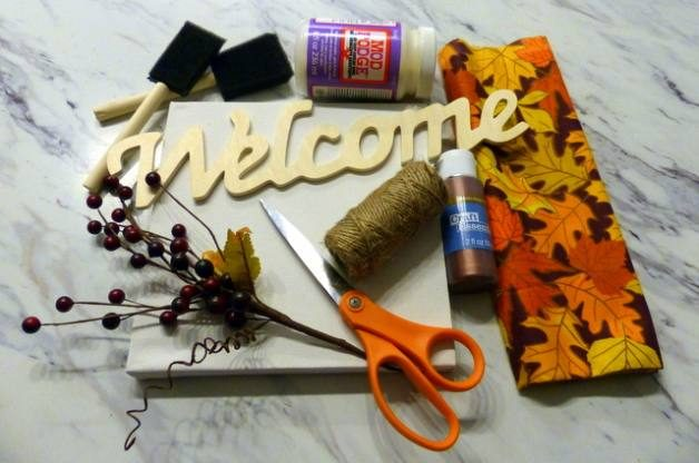 Welcome Sign Fall Craft Materials