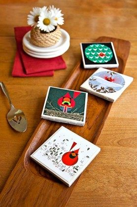 DIY Coasters make a lovely gift, party favor or home accent!