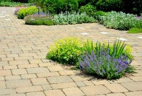 patio island planter