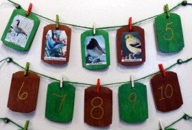 Backyard Birds DIY Christmas Countdown