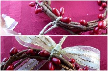 Berry Wreath Napkin Ring Ornament Assembly