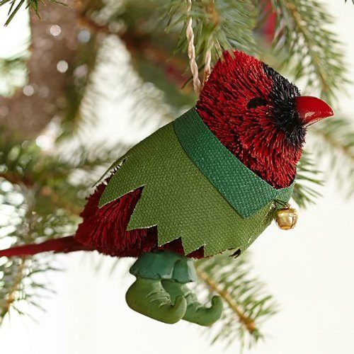 gift ideas bottlebrush cardinal ornament - Bird Christmas Tree Decorations