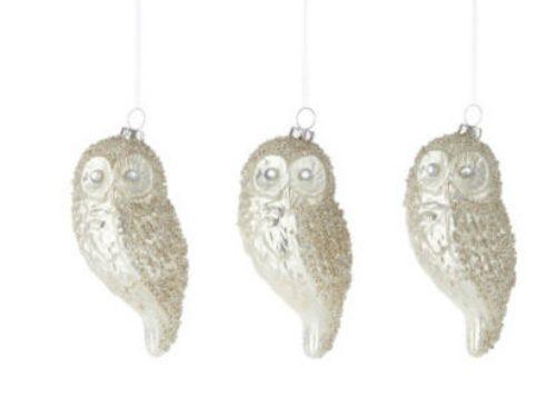 Pearl Owl Ornaments
