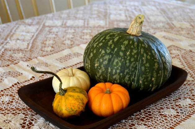 fall decor from the produce aisle