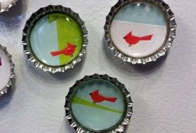Recycled Christmas Card Craft Magnets