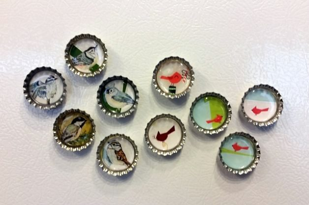 Recycled christmas card craft magnets diy projects for for Where to buy magnets for crafts
