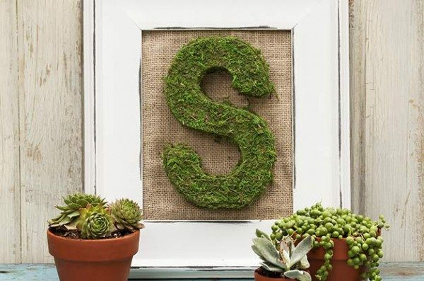 DIY Decor Projects: Moss Letters