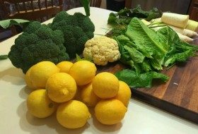 winter vegetable and fruit harvest