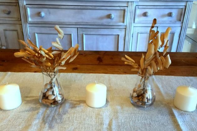 DIY Home Decor Seed Pod Centerpieces