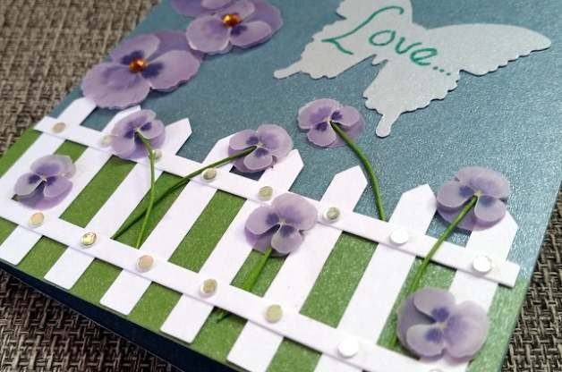 DIY Valentine Card Pansy Seeds