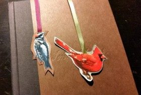 Bookmark Recycled Christmas Card Craft
