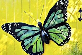 DIY Garden Bowling Pin Butterfly