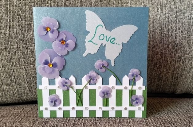 DIY Valentine Card with Pansy Seeds