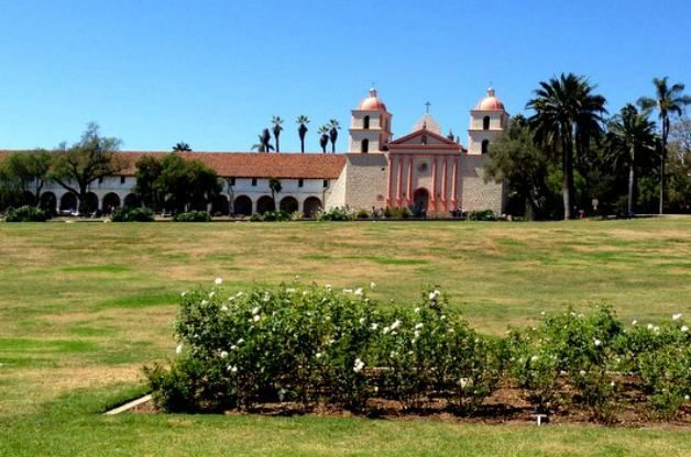 Santa Barbara Mission Rose Garden 2