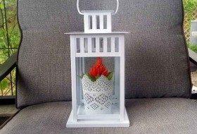 Easy Lantern DIY Plant Gift
