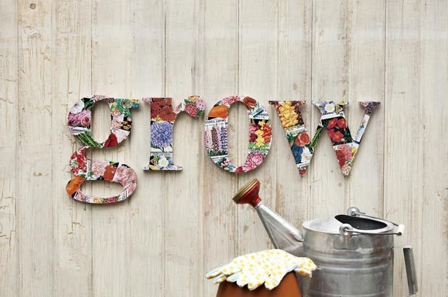 DIY Seed Packet Letters | Birds & Blooms