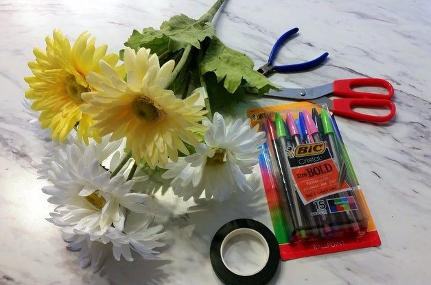 Easy diy flower pens craft diy projects for the home