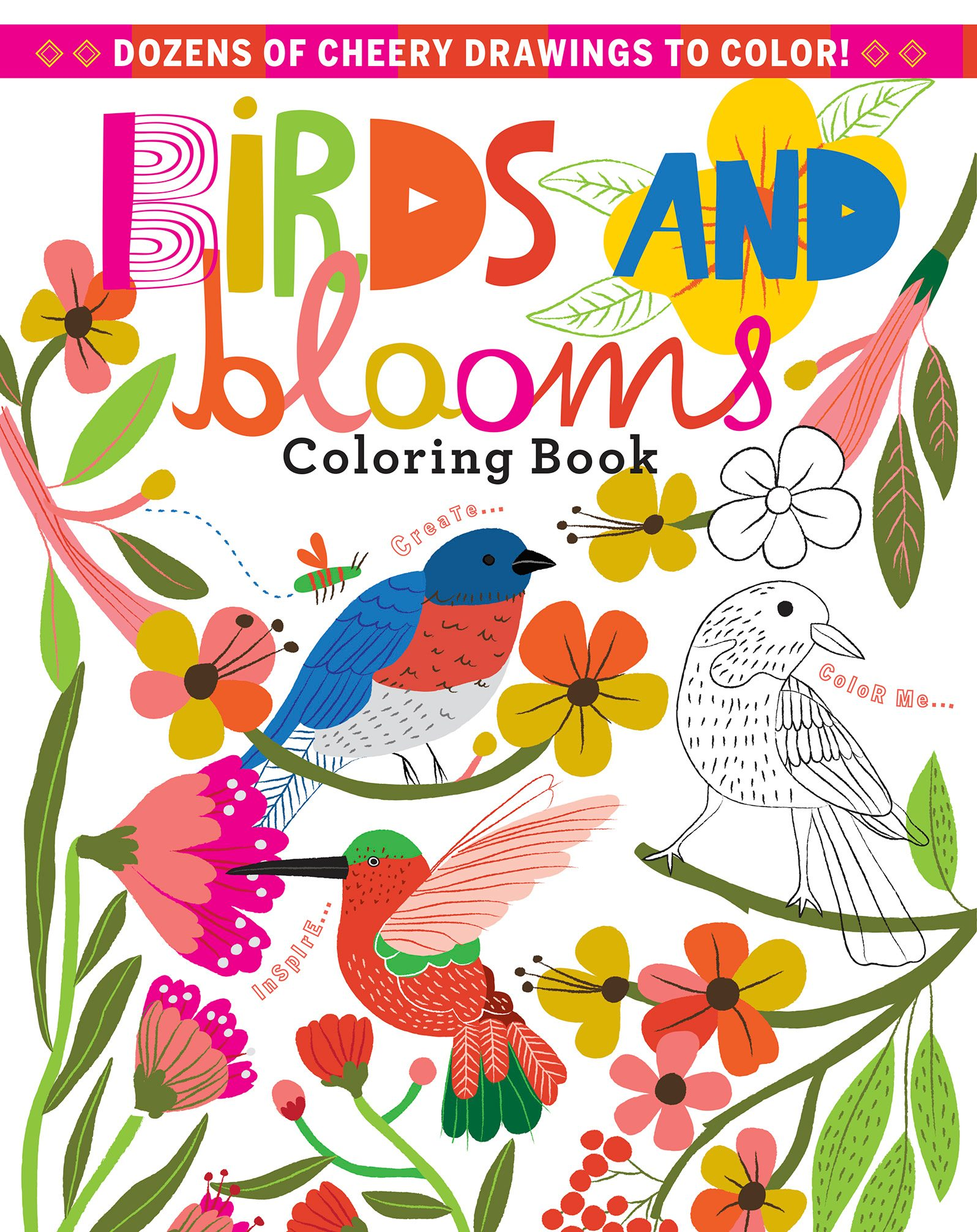 Find A Cozy Spot Near Your Favorite Backyard Window Grab Some Colored Pencils And Settle In With Our Bright Upbeat Birds Blooms Coloring Book