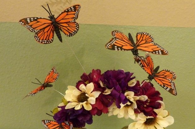 DIY Butterfly Garden Headband For Halloween