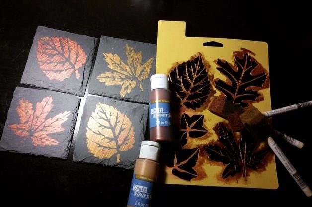 Fall Leaves DIY Home Decor Project Materials