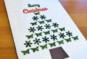 Butterfly DIY Christmas Card 2