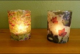 Easy Flower DIY Candle Holders