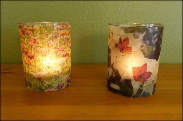 easy flower diy candle holders - Diy Candle Holders