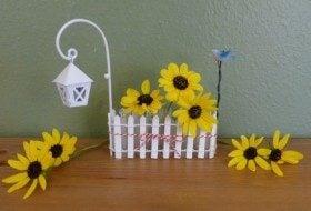 Mini Picket Fence DIY Vase Craft