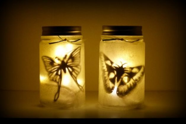 DIY Lantern Moth Jars