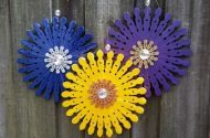 Clothespin Flowers Craft