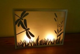 DIY Candle Holder Dragonfly Craft