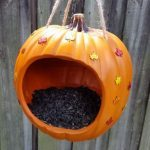 Easy DIY Pumpkin Bird Feeder