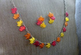Easy DIY Fall Leaf Jewelry