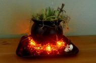 Halloween Planter Witch's Cauldron