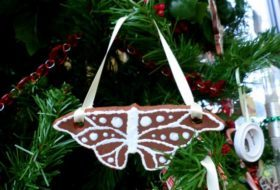 Gingerbread Butterfly Ornaments